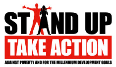 Stand Up Take Action ロゴ